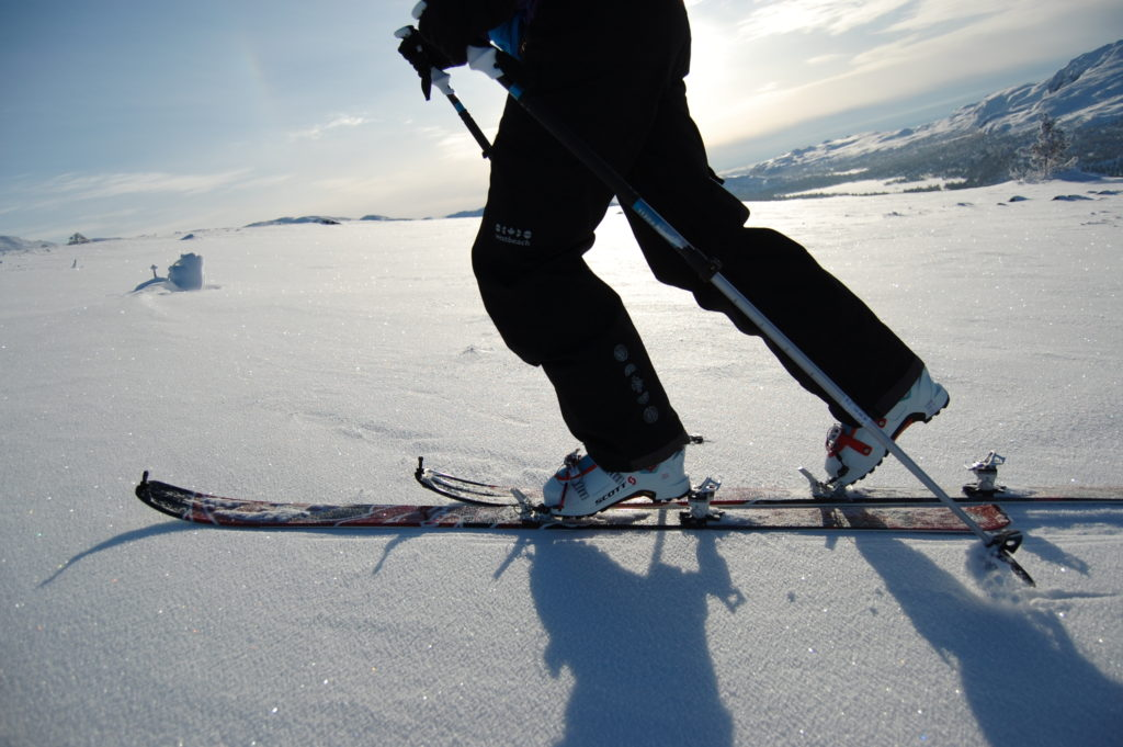 Solsken och skidor, en perfekt kombination